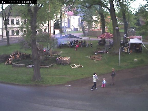 Stavění máje 2011_foto webcam
